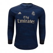 Camiseta Real Madrid 2ª Equipacion Manga Larga 2019-2020