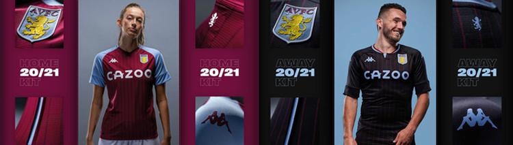 camisetas del Aston Villa 20-21