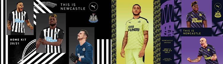 camisetas del Newcastle United 20-21