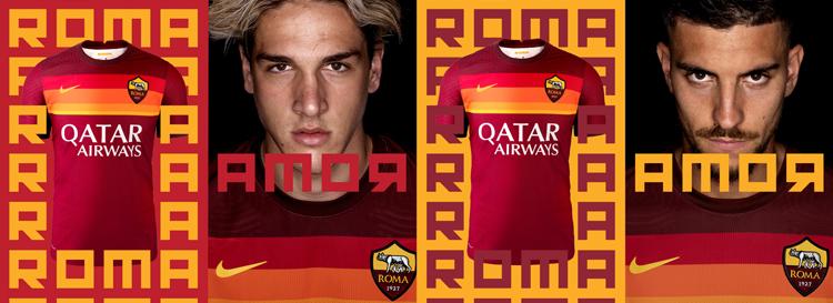 camisetas del Roma 20-21