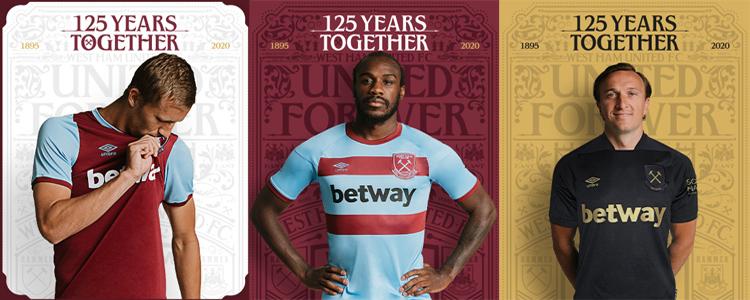camisetas del West Ham 20-21
